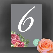 Personalised Table Number - English Rose