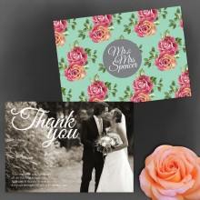 Personalised Thank You Notes - English Rose