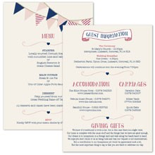 Personalised Information Cards - Summer Fete