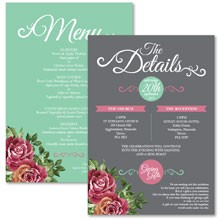 Personalised Information Cards - English Rose