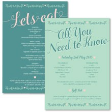 Personalised Information Cards - Southern Belle