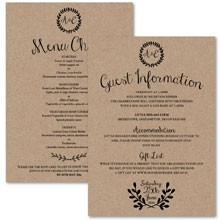 Personalised Information Cards - Rustic Charm