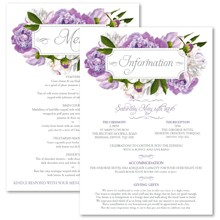Personalised Information Cards - Peony Purple