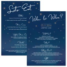 Personalised Information Cards - Written in the Stars