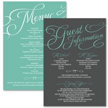 Personalised Information Cards - Tiffany Charm