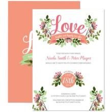 Personalised Wedding Invitations - Love, Laughter...