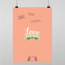 Personalised Guest Sign Poster - Love, Laughter...