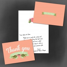 Personalised Thank You Cards - Love, Laughter