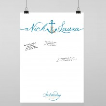 Personalised Guest Sign Poster - Ahoy Me Hearties