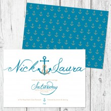 Personalised Wedding Invitations - Ahoy Me Hearties
