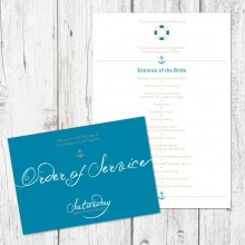 Personalised Order Of Service - Ahoy Me Hearties