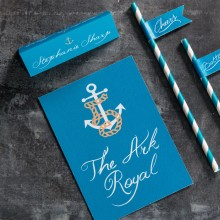 Ahoy Me Hearties - Nautical Wedding Stationery