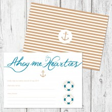 Personalised RSVP Cards - Ahoy Me Hearties