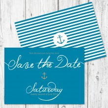 Personalised Save The Date - Ahoy Me Hearties