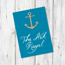 Personalised Table Name - Ahoy Me Hearties