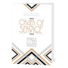 Personalised Order Of Service -  Lexington Midnight