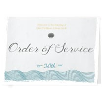 Personalised Order Of Service - Coastal