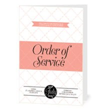 Personalised Order Of Service - Coco