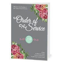 Personalised Order of Service - English Rose