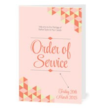 Personalised Order Of Service - Geo Love