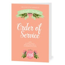 Personalised Order Of Service - Love, Laughter...