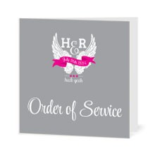 Personalised Order Of Service - Heck Yeah