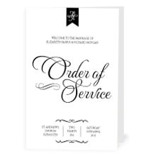 Personalised Order Of Service - Pure Love