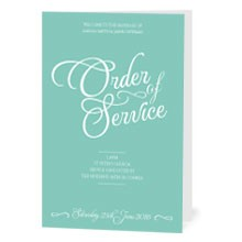 Personalised Order Of Service - Tiffany Charm