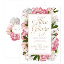 Personalised Wedding Invitations - Peony