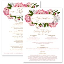 Personalised Information Cards - Peony