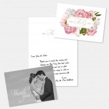 Personalised Thank You Card - Peony