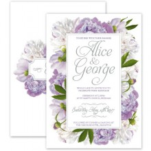Personalised Wedding Invitations - Peony Purple