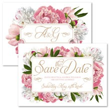 Personalised Save The Date - Peony