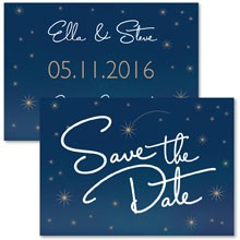 Personalised Save The Date - Written in the Stars