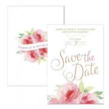 Personalised Save The Date - Sweet Green