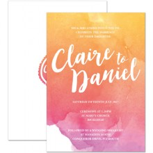 Personalised Wedding Invitations - Sunrise Ombre