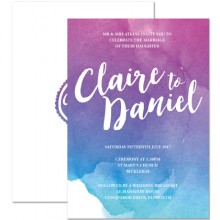 Personalised Wedding Invitations - Dusk Ombre