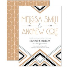 Personalised Wedding Invitations - Lexington Midnight