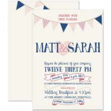 Personalised Wedding Invitations - Summer Fete