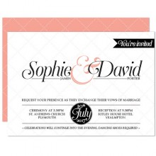 Personalised Wedding Invitations - Coco