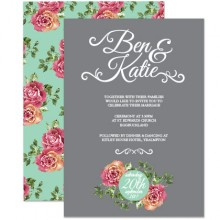 Personalised Wedding Invitations - English Rose
