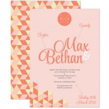 Personalised Wedding Invitations - Geo Love