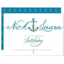 Personalised Wedding Invitation - Ahoy Me Hearties