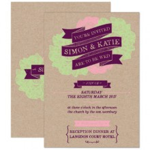 Personalised Wedding Invitations - Woodland