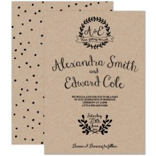 Personalised Wedding Invitations - Rustic Charm