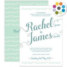 Personalised Wedding Invitations - Southern Belle