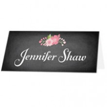 Personalised Wedding Place Names - Chalkboard Blossom