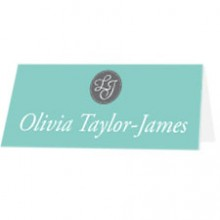 Personalised Wedding Place Names - Tiffany Charm
