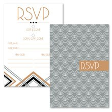 Personalised RSVP Cards - Lexington Midnight