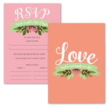 Personalised RSVP Cards - Love, Laughter...